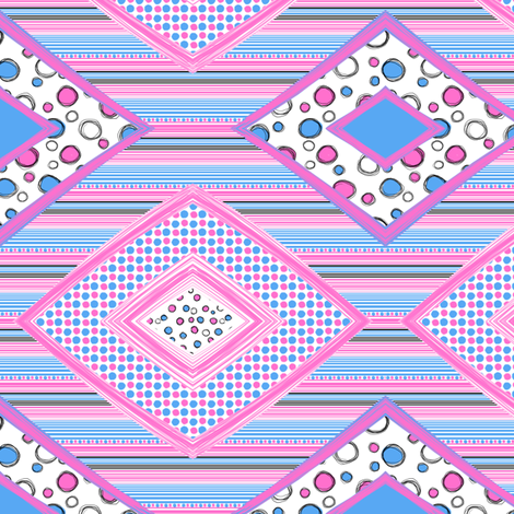 Kitty Hearts: Diamond Patches_large fabric by tallulahdahling on Spoonflower - custom fabric
