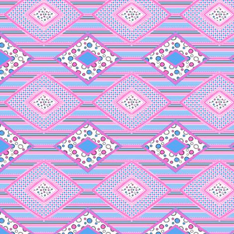 KittyHearts: Diamond Patches_small fabric by tallulahdahling on Spoonflower - custom fabric
