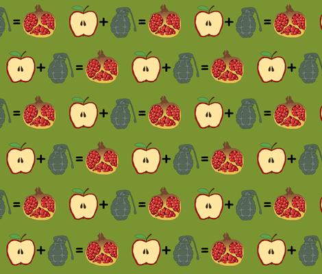 apple + grenade = pomegranate fabric by celebrindal on Spoonflower - custom fabric
