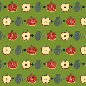 apple + grenade = pomegranate