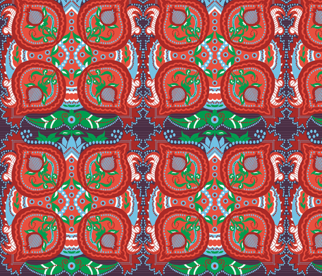 The_ethnic_pomegranate fabric by vedanta on Spoonflower - custom fabric