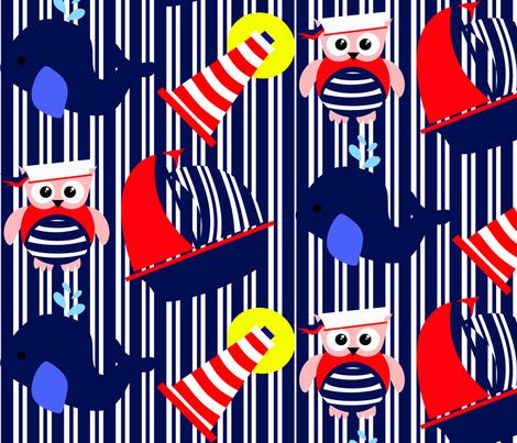 Nautical Adventure Stripes fabric by little_treasures on Spoonflower - custom fabric