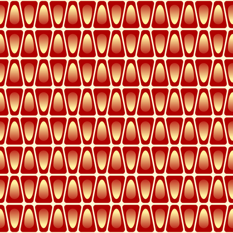 pomegranate aril stripe fabric by sef on Spoonflower - custom fabric