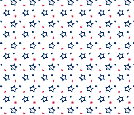 Stars - © Lucinda Wei fabric by lucindawei on Spoonflower - custom fabric