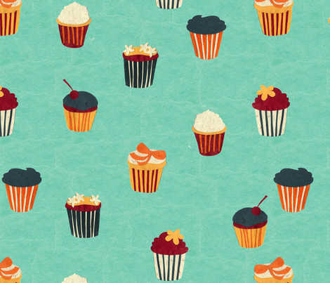Paper Cup Cakes fabric by nikky on Spoonflower - custom fabric