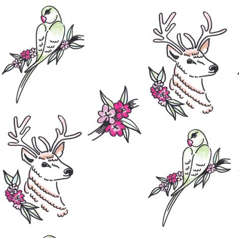 Richmond Tiki fabric by robot_angel on Spoonflower - custom fabric