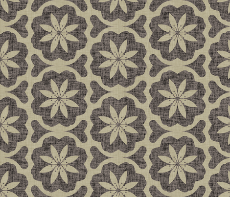 burlap_dutch_flower fabric by holli_zollinger on Spoonflower - custom fabric