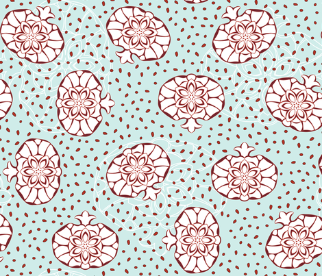Royal Pomegranate fabric by andrea11 on Spoonflower - custom fabric