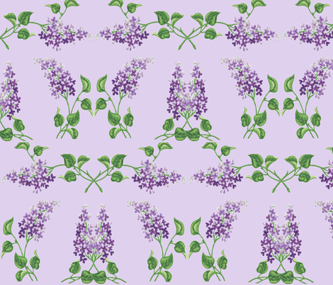 LILACS fabric by bluevelvet on Spoonflower - custom fabric