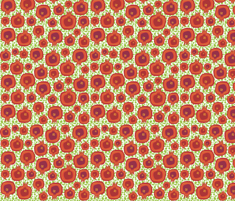 Pompelipom on green seeds fabric by creative_cat on Spoonflower - custom fabric