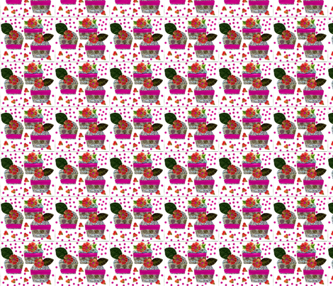 Three_cupcakes for a girls party by pink finch fabric by pink_finch on Spoonflower - custom fabric