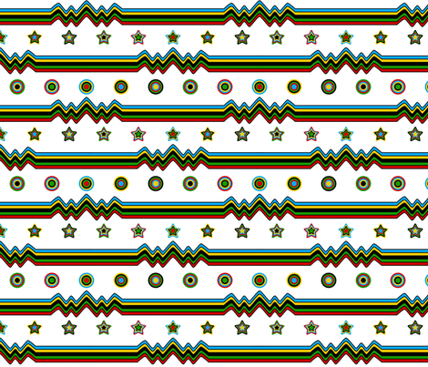 Retro Sport Stripe fabric by modgeek on Spoonflower - custom fabric