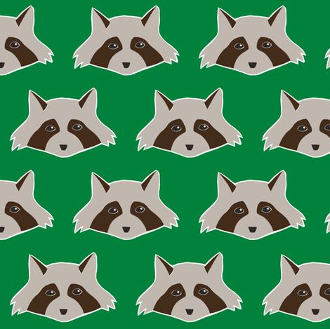 raccoon fabric by annekecaramin on Spoonflower - custom fabric