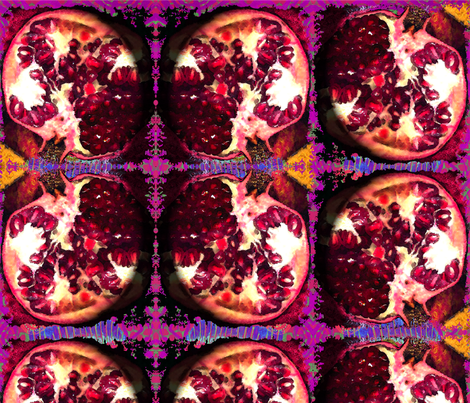 Pomegranate_on_display fabric by rubyrice on Spoonflower - custom fabric