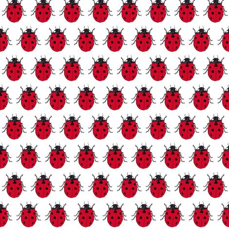 ladybirds fabric by annekecaramin on Spoonflower - custom fabric