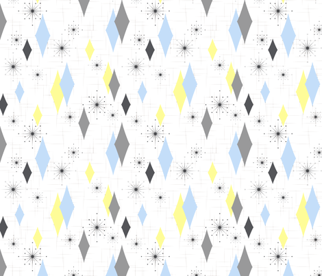 Burmond #Cb (Blue/Yellow) fabric by tonyanewton on Spoonflower - custom fabric