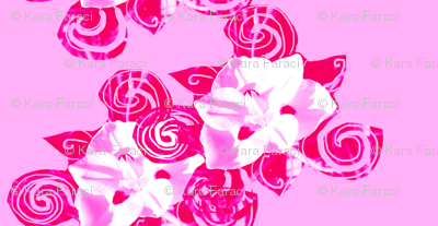 Happy Bold Pink Flower