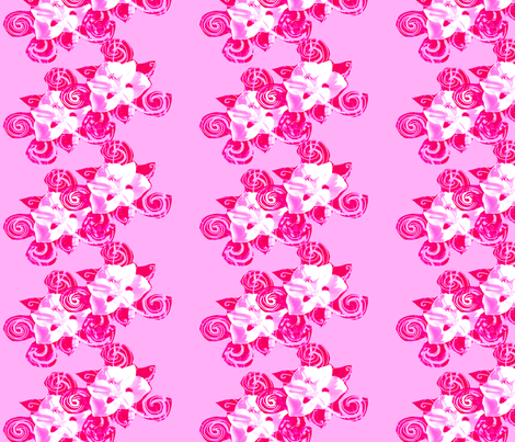 Happy Bold Pink Flower fabric by karacake on Spoonflower - custom fabric