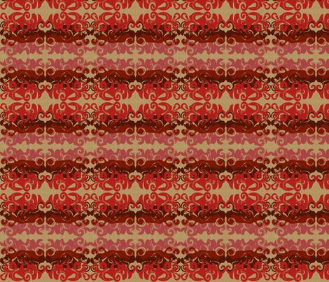 RedSwirlyWhirlies fabric by garwooddesigns on Spoonflower - custom fabric