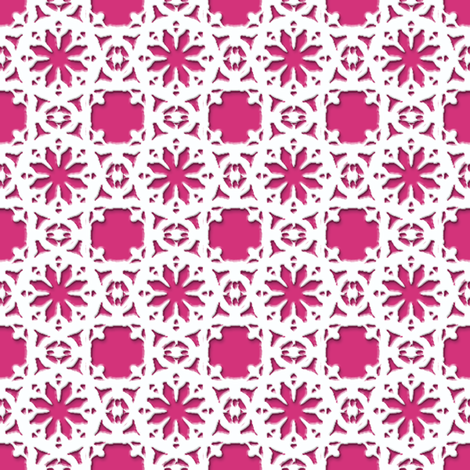 Lacy_Daisy__-Dior_pink fabric by fireflower on Spoonflower - custom fabric