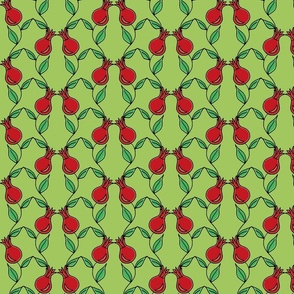 pomegranate flower green