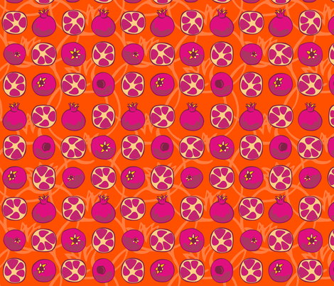 Graphic POM fabric by ghennah on Spoonflower - custom fabric