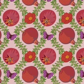 Pommegranate Damask