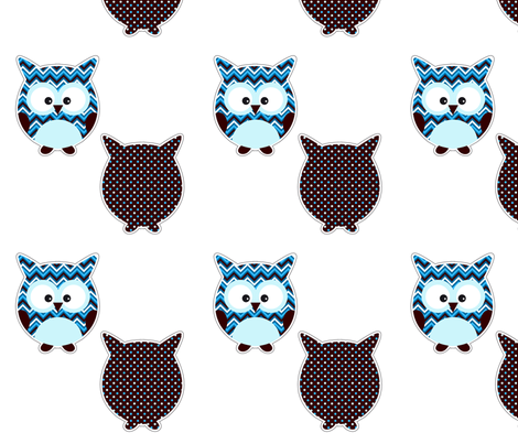 Plushie owl fabric by valmo on Spoonflower - custom fabric