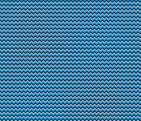 Chevron blue fabric by valmo on Spoonflower - custom fabric