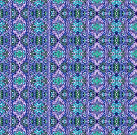 Ye Olde Lavender/Aqua/Green Vertical Stripe fabric by edsel2084 on Spoonflower - custom fabric