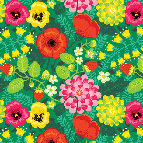 Flowers in my garden fabric by irrimiri on Spoonflower - custom fabric