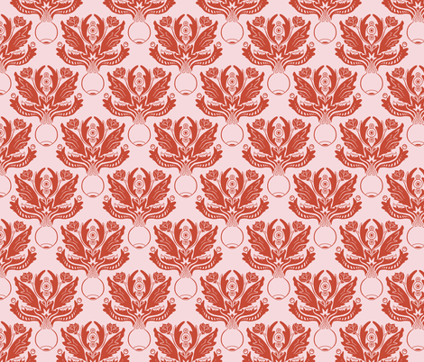 Ocular Damask - Red fabric by pi-ratical on Spoonflower - custom fabric