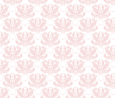 Ocular Damask - Pink fabric by pi-ratical on Spoonflower - custom fabric