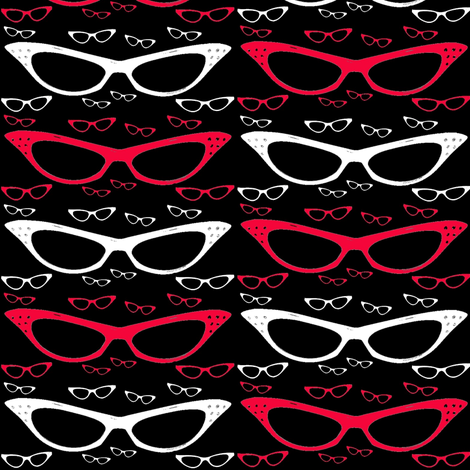 Sexy Secretary Glasses fabric by theunicornandthewasp on Spoonflower - custom fabric