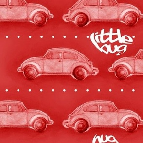LoveBug VW Beetle - red