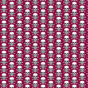 skulls on red