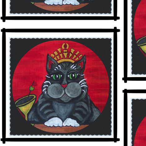 Cat Queen Fabric fabric by corbyscats on Spoonflower - custom fabric
