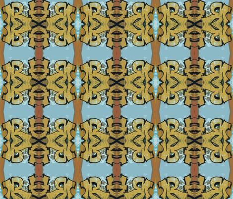 Tiki Totem fabric by susaninparis on Spoonflower - custom fabric