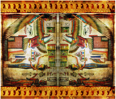 Egyptian_pillow_case fabric by mysticalarts on Spoonflower - custom fabric