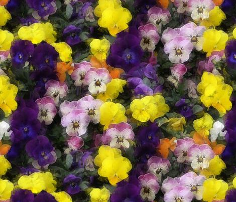 violets 4 fabric by kociara on Spoonflower - custom fabric