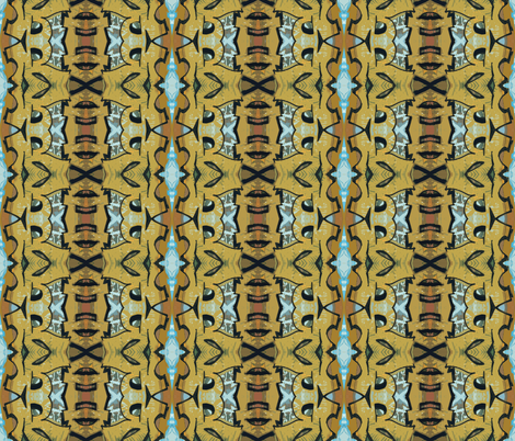 Tiki Termites fabric by susaninparis on Spoonflower - custom fabric