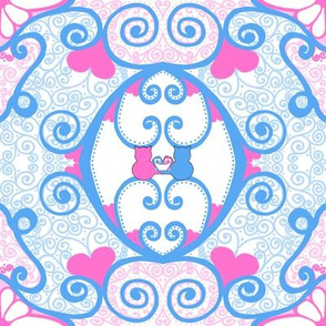 Kitty Hearts: Kitty Curlique - large
