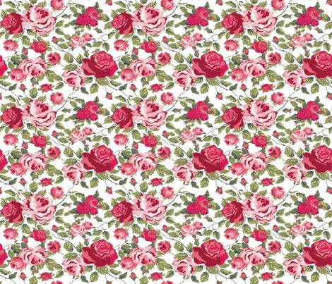 PRINCESS ROSES fabric by bluevelvet on Spoonflower - custom fabric