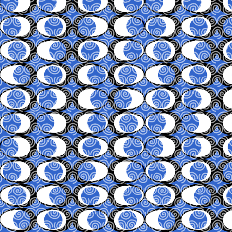 moon watching over the water fabric by glimmericks on Spoonflower - custom fabric