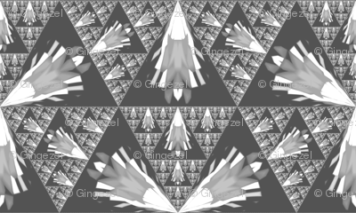 Gray and White Fractal Geometric © Gingezel™ 2012
