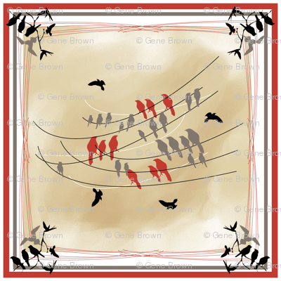 Birds On A Wire - Scarf Design