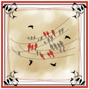 Birds On A Wire - Scarf Design