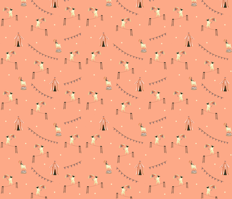 Circus Pug fabric by clevergirlstudio on Spoonflower - custom fabric