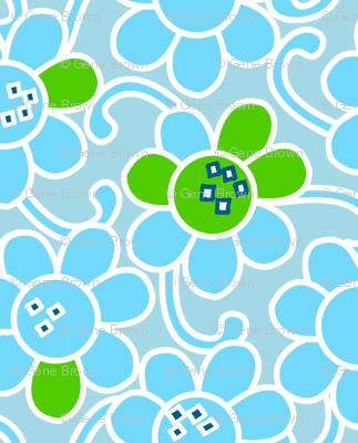 Pop-u-lar Flower-Blues
