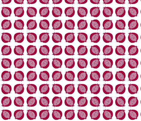 pomegranate fabric by sylvine on Spoonflower - custom fabric